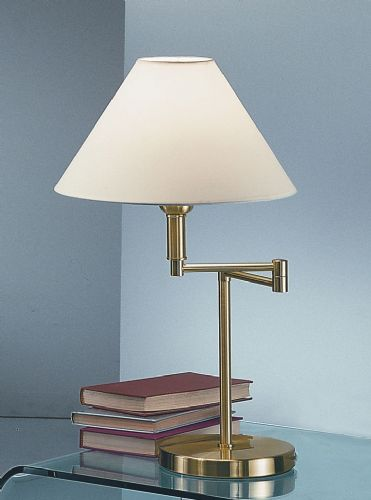 Franklite TL706 Satin Brass Table Lamp (Class 2 Double Insulated)